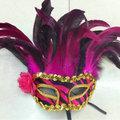 máscara de la danza Factory Direct Plumas decoración noble 2201#