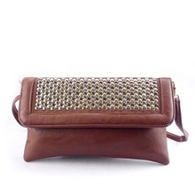 2015 newest luxury pu clutch bags handbag for stores