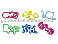 silicone funny bands