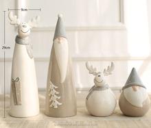 Resina navidad santa y renos ornamento de la navidad