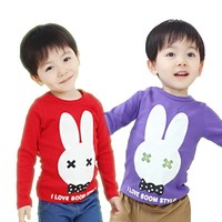 2015 Wholesale Cheap Cotton Bunny Pattern Children Sure T- Shirts