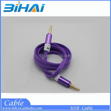3m Silver Male to Male Auxiliary Cable 3.5mm to 3.5mm Aux Lead Mobile Smart Phone MP3 MP4 Connection