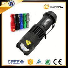 High brightness cheap promotional aluminum 7w led flashlight torch