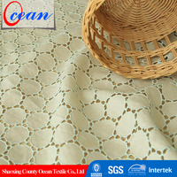 best eyelet style cotton material aida embroidery fabric