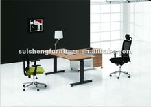 2012 modern office executive desk furniture with metal legs and panel TD004