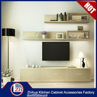 Modern living room tv cabinet tv lcd wooden cabinet designs