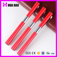 New fancy style souvenir red roller pen free ink metal roller pen roller tip ball pen with logo