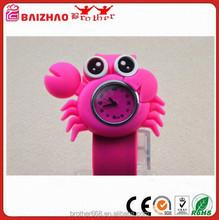 Kids Children Boy Girl Wristwatch Rose Red Silicon Band