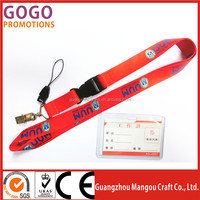 Manufacture nylon strap key chain lanyard for business gifts lanyard wholesale custom lanyards no minimum order
