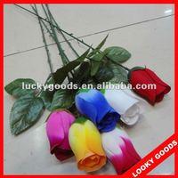 cheap decorative artificial rose flower,single stem rose flower
