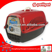 red big American style flight cage,pet air carrier,pet air box