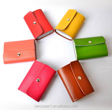 Colorful Cow Leather men Casual Slim Credit Card Case ID Cash Holder women Small Wallet
