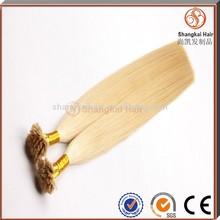 Wholesale Brazilian Virgin flat tip Hair pre-bonded Hair Extension