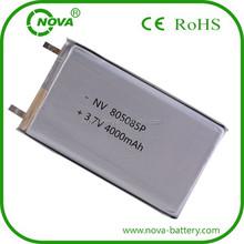 805085 Li-polymer 3.7v battery 4000mah battery tablet pc