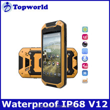 rugged waterproof cell phone IP68 V12 4.5 inch Android 4.2 smart phone