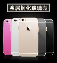 Luxury Aluminum Ultra-thin Mirror Metal Case Cover for iPhone 6 For iPhone 6 Plus
