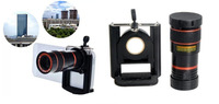 8x Zoom Optical Lens Mobile Phone Telescope Camera For iPhone For Sumsung For HTC Universal Clip Holder Eightfold Magnifier