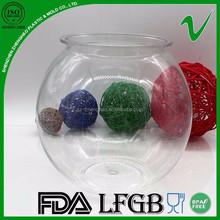 PET wide mouth empty disposable transparent plastic jar water for goldfish bowl