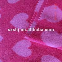 100% Polyester Heart Polar Fleece Fabric