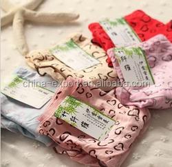 A539 2015 wholesale hot cute candy color cute Peach heart bamboo fiber yarn lace sexy women panties