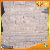 Brite white quartz stone veneer panels thin brick stone veneer fireplace