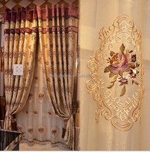 2014new luxury different styles of cartains 3d effect wall decoration fabric curtains