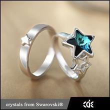 cristalli di bomboniere swarovski argento paio di anelli gioielli per il giorno di san valentino
