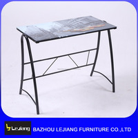 modern tall glass home used study computer desk table