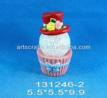 Valentine's Day ceramic cake with led light