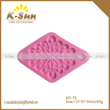2015 China Knot fabric silicone lace mold fondant mold clay fimo mold home Garden