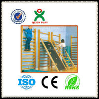 Play Center plastic kids rock climbing wall/kids outdoor climbing wall/indoor rock climbing gyms/QX-11073E