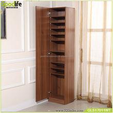 Walnut color furniture standing height adjustable shoe rack ikea