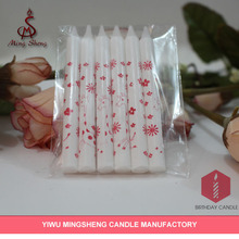 6pcs white birthday party candles