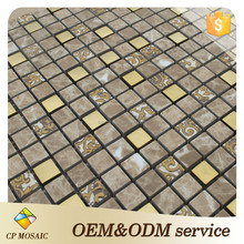 Foshan 2015 Hot Sale Glass Mix Ceramic Kitchen Mosaic