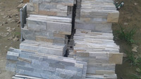 grey slate decorative stone veneer wall panel