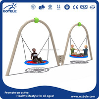 2015 New Product Double Seat Round Hanging Swing For Child Playground Equipment