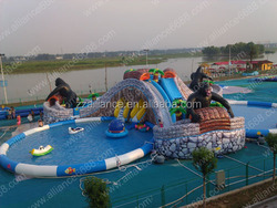 forest water paradise giant slide