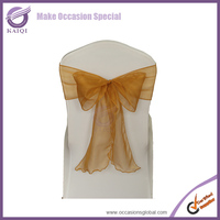 hot sale cheap wedding organza sashes wedding event party decoration