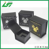 luxury custom logo printed gift velvet paper jewelry box