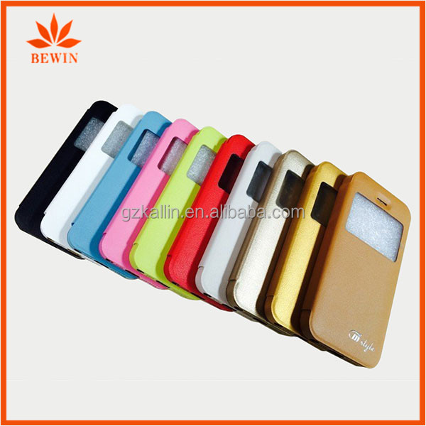 two mobile phones leather case for iphone5