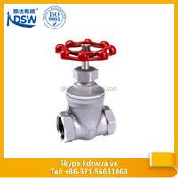 stainless steel thread gate valve
