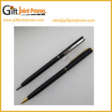 China Manufacturer Promotional Custom LOGO Metal Slim Hotel Ballpoint Pen