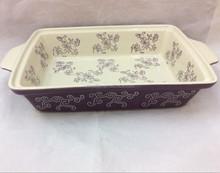 stock long shape porcelain bakeware dishes,oven safe,baking dish