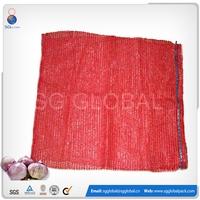 PE raschel small drawstring onion mesh bag from China