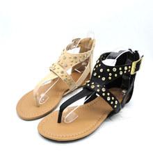 Trendy China Export sandals chappals womens flat fancy sandals