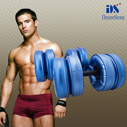 new products 2015 innovative product ! water filled dumbbells weight fitness body building