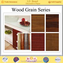 Top Manufacturer Wood grain furniture decorative paper wholesale