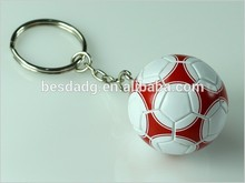 Fashion 3D Promotional Basketball PVC keychain