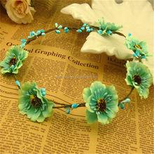 Design best sell silk flower lei wreath wedding petals