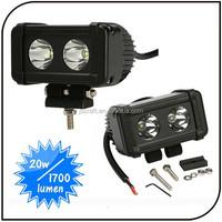 Hot sell 20w spot flood light beam ip67 10-45V 4WD off road led light bar for truck